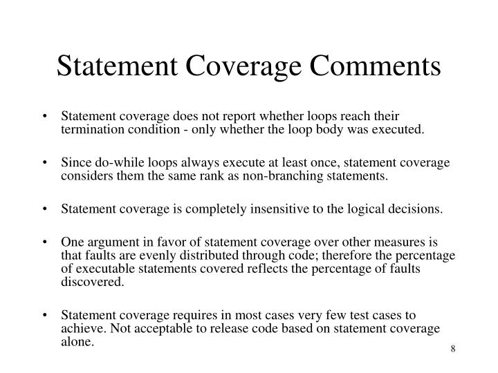 Statement Coverage Comments