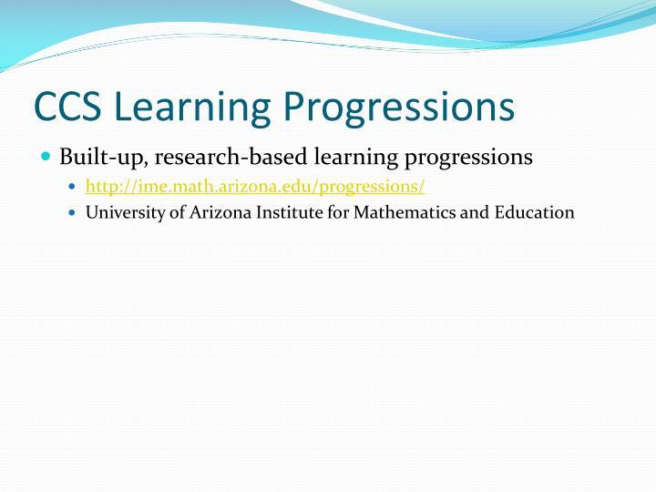 CCS Learning Progressions