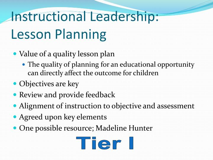 Instructional Leadership: