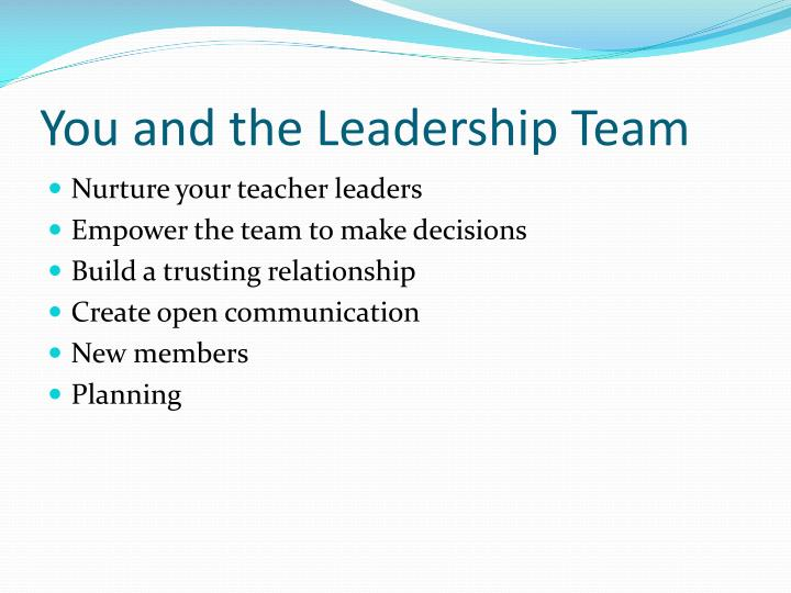 You and the Leadership Team