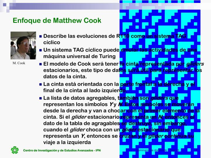 Enfoque de Matthew Cook