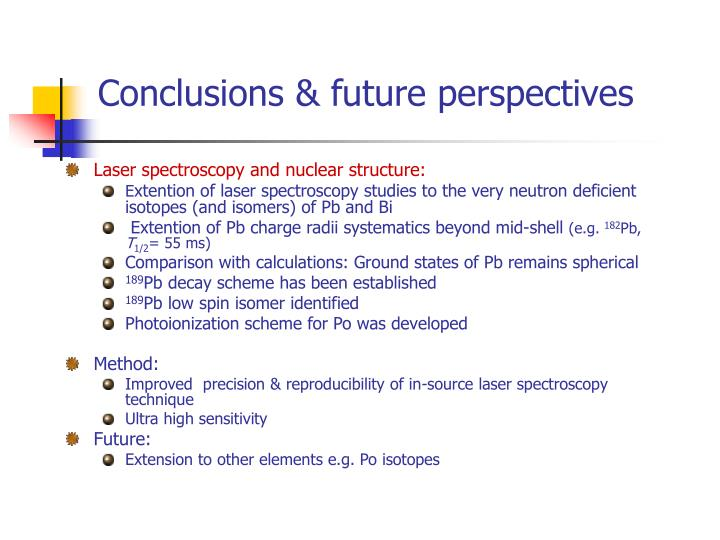 Conclusions & future perspectives