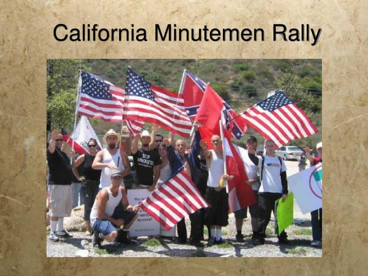 California Minutemen Rally