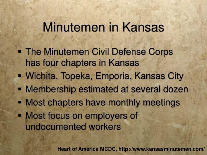 Minutemen in Kansas