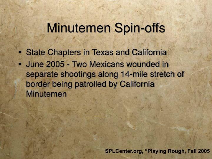 Minutemen Spin-offs