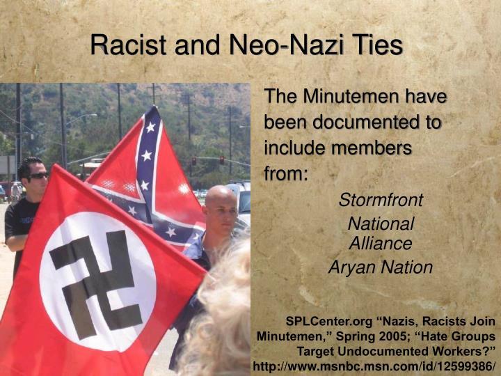 Racist and Neo-Nazi Ties