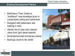 existing development pattern