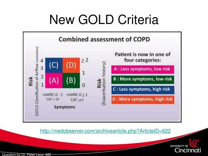 New GOLD Criteria