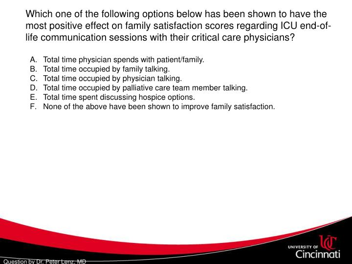 Total time physician spends with patient/family.