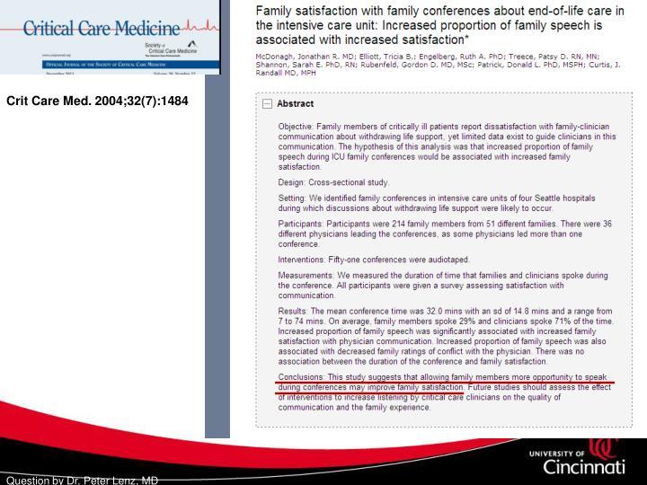 Crit Care Med. 2004;32(7):1484