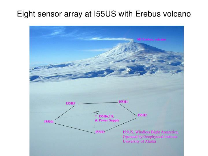 Eight sensor array at i55us with erebus volcano