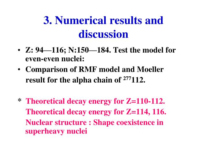 3. Numerical results and discussion
