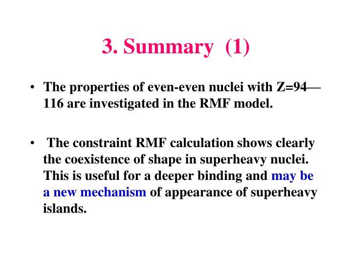 3. Summary  (1)