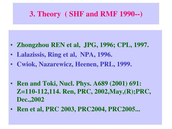 3. Theory  ( SHF and RMF 1990--)