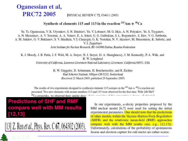 Oganessian et al, PRC72 2005