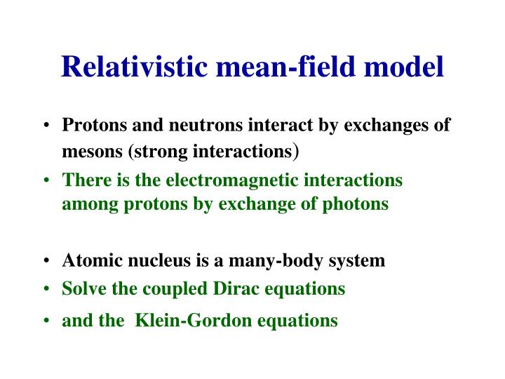 Relativistic mean-field model