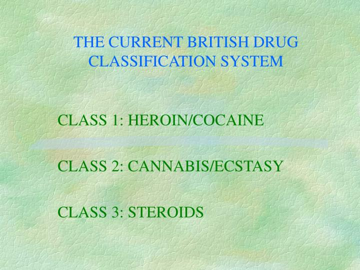 THE CURRENT BRITISH DRUG CLASSIFICATION SYSTEM