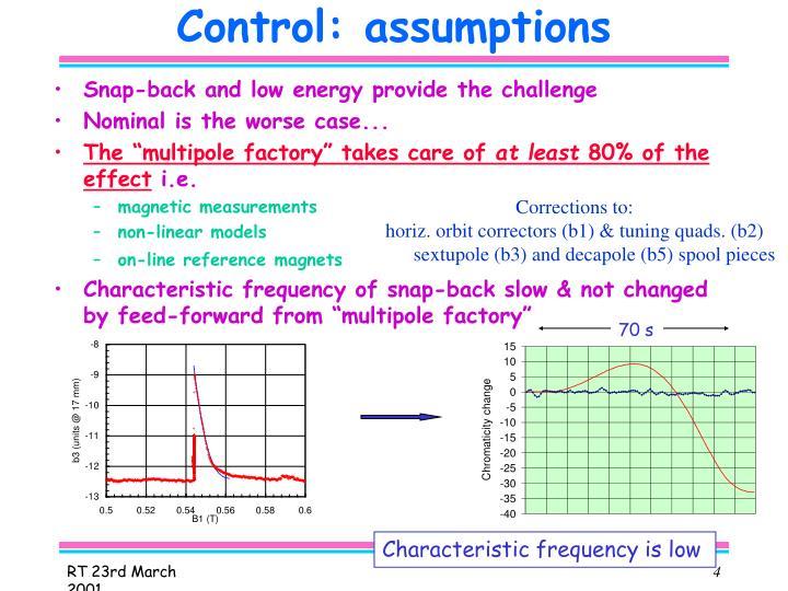 Control: assumptions