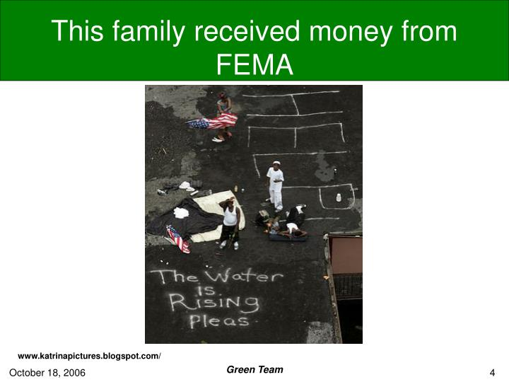 This family received money from FEMA