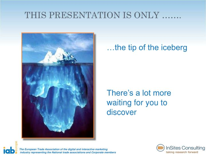 THIS PRESENTATION IS ONLY …….