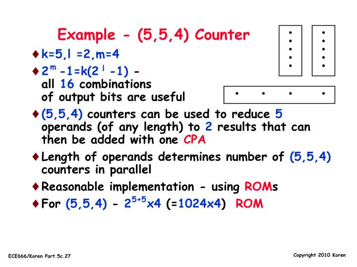 Example - (5,5,4) Counter
