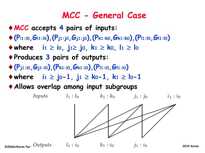 MCC - General Case