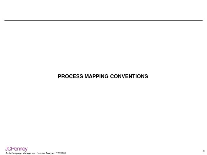 PROCESS MAPPING CONVENTIONS