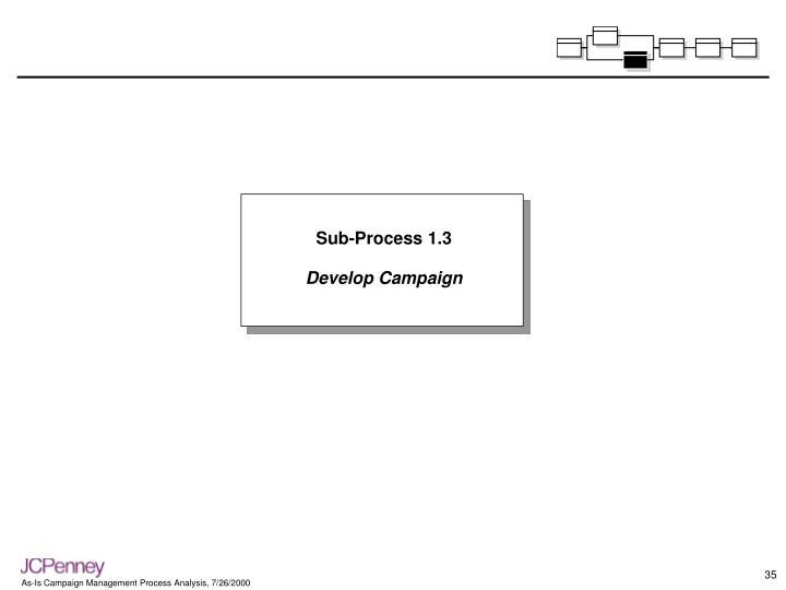 Sub-Process 1.3