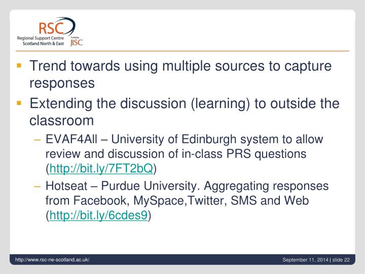 Trend towards using multiple sources to capture responses