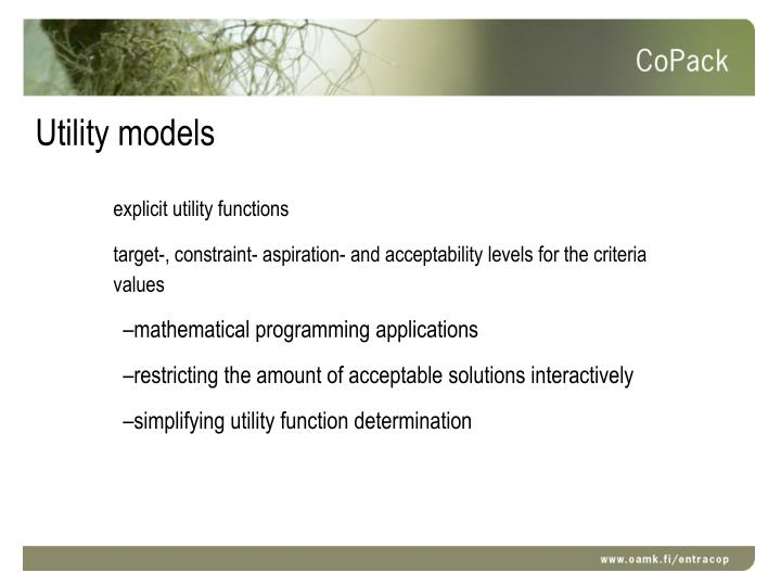 Utility models