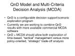 qnd model and multi criteria decision analysis mcda