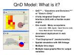 qnd model what is it