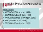 wba evaluation approaches1
