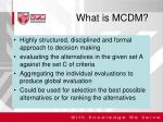 what is mcdm