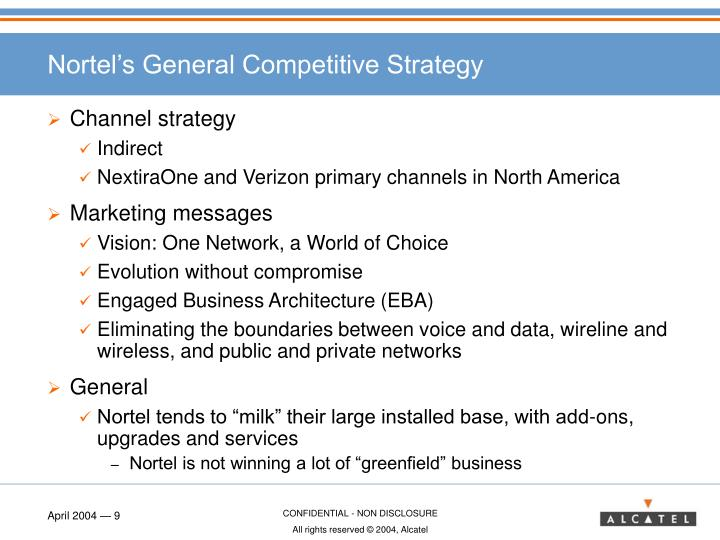 Nortel's General Competitive Strategy