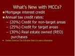 what s new with mccs