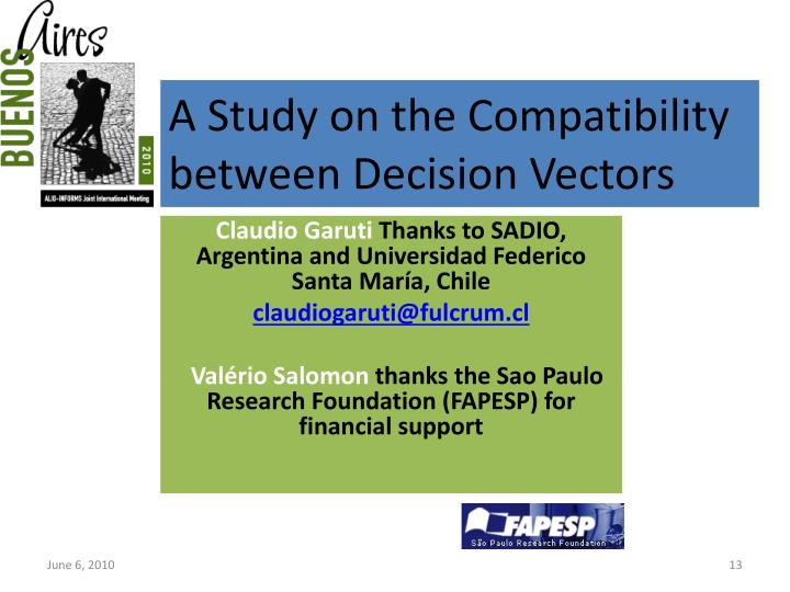 A Study on the Compatibility between Decision Vectors