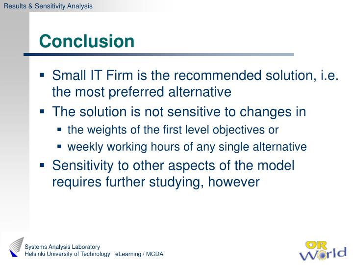 Results & Sensitivity Analysis