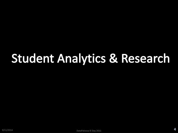 Student Analytics & Research