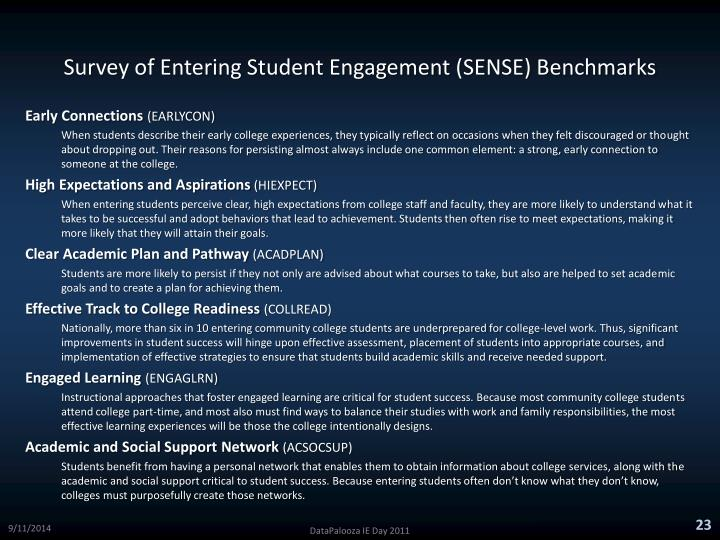 Survey of Entering Student Engagement