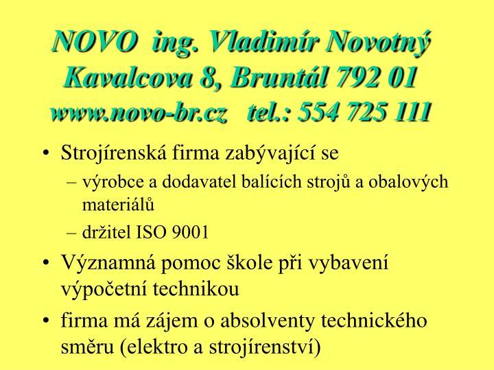 NOVO  ing. Vladimír Novotný