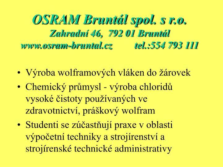 OSRAM Bruntál spol. s r.o.