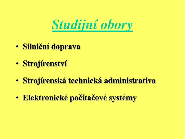 Studijní obory