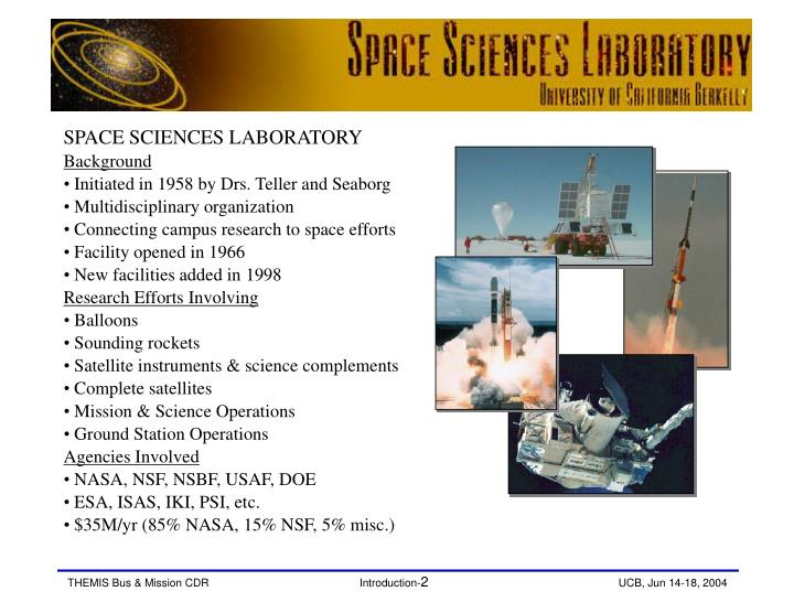 SPACE SCIENCES LABORATORY