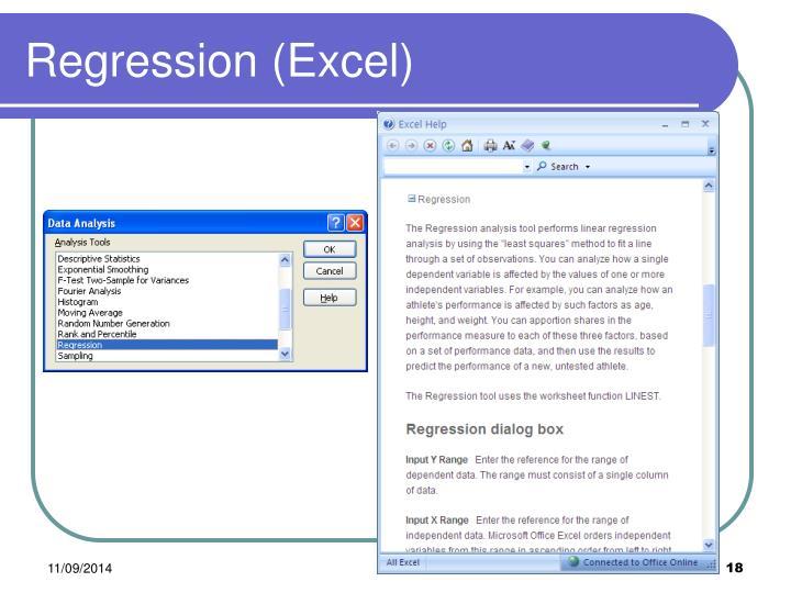 Regression (Excel)