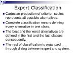 expert classification1