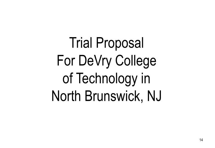 Trial Proposal