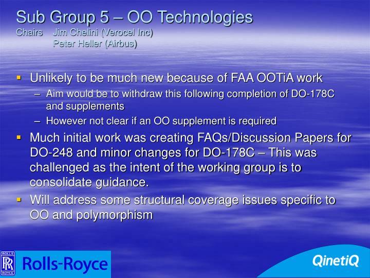 Sub Group 5 – OO Technologies