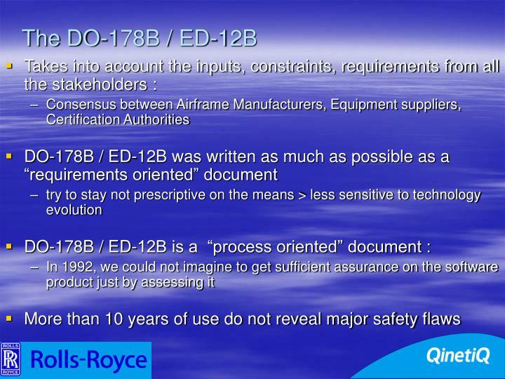The DO-178B / ED-12B