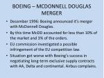 boeing mcdonnell douglas merger